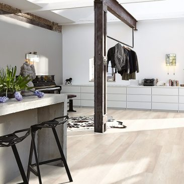 light oak laminate floor interior