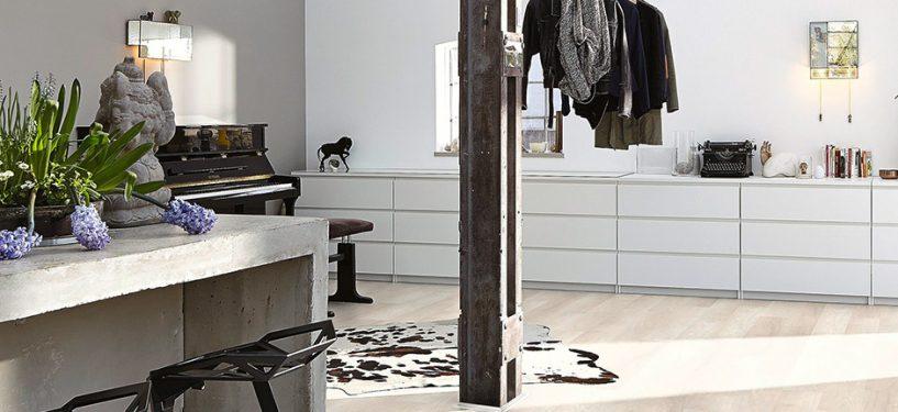 light oak laminate floor interior